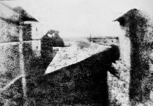 Ньепс, вид на Грас, первая фотография